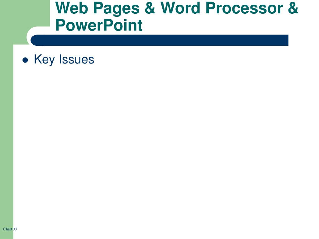 Web Pages & Word Processor & PowerPoint