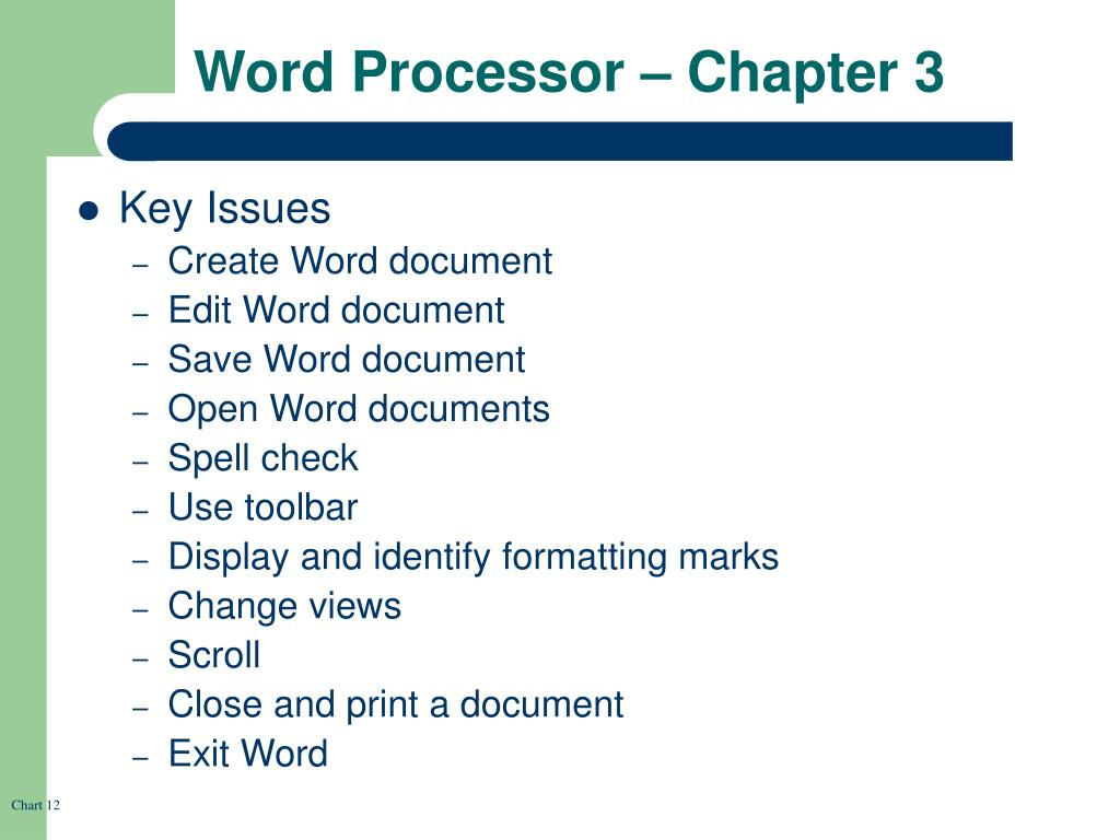 Word Processor – Chapter 3
