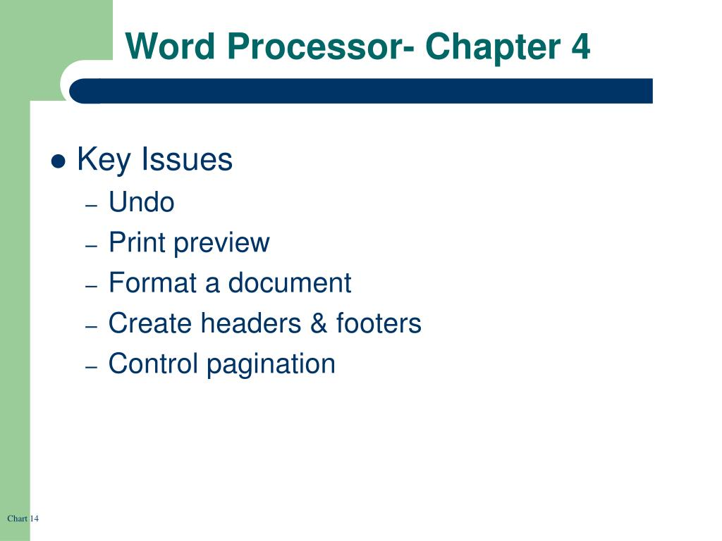 Word Processor- Chapter 4