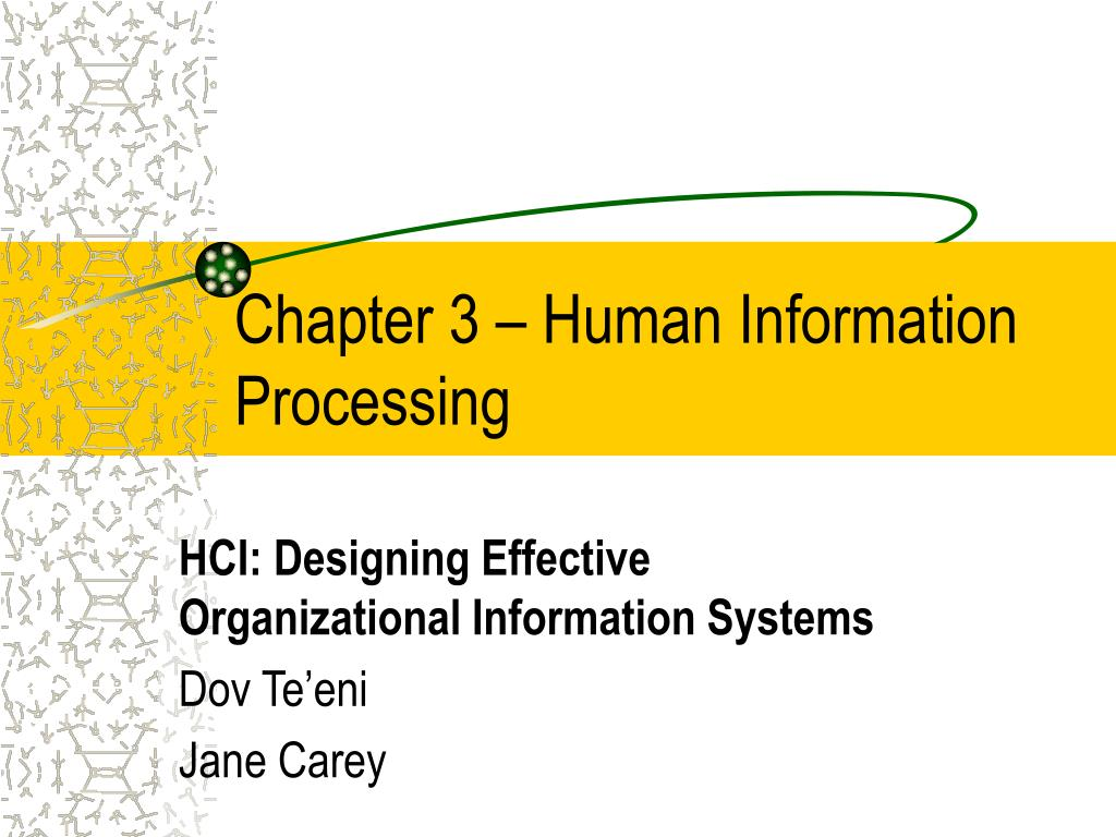 Chapter 3 – Human Information Processing