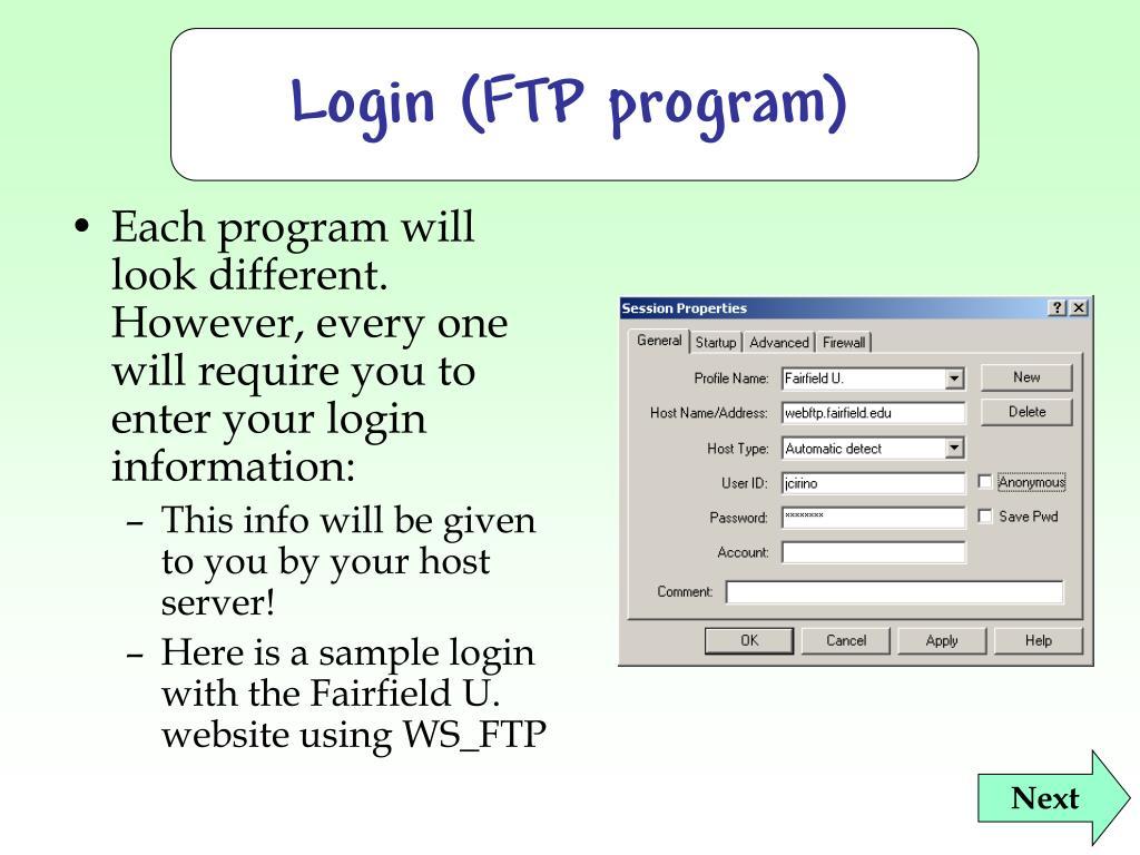 Login (FTP program)