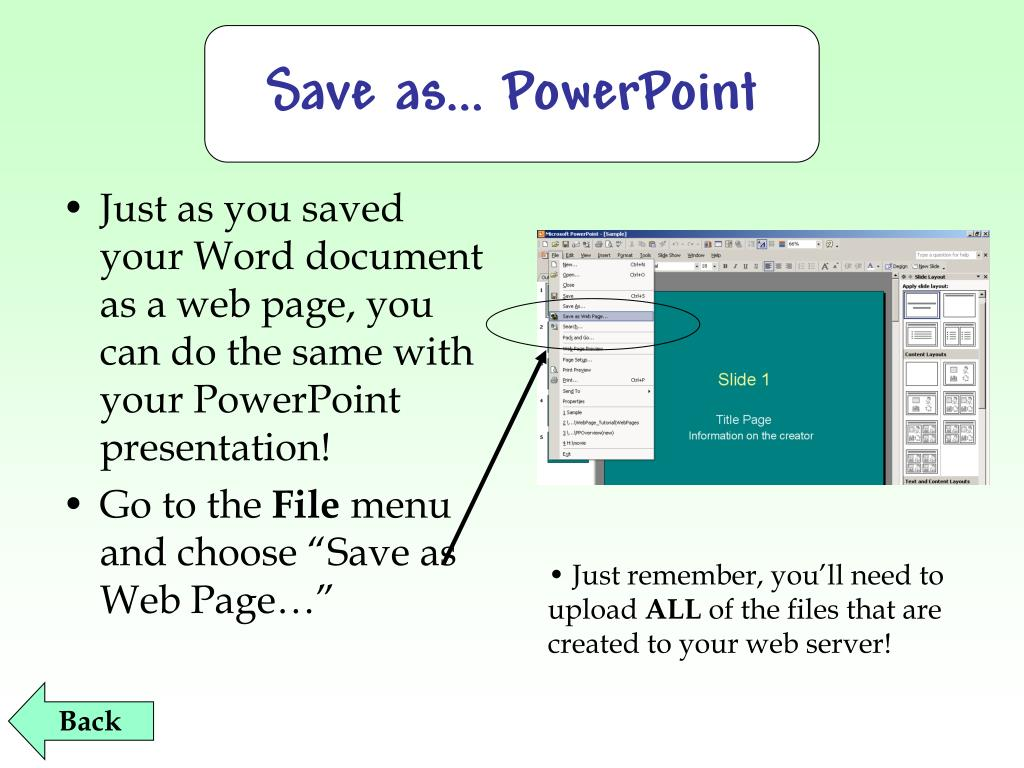 Save as… PowerPoint