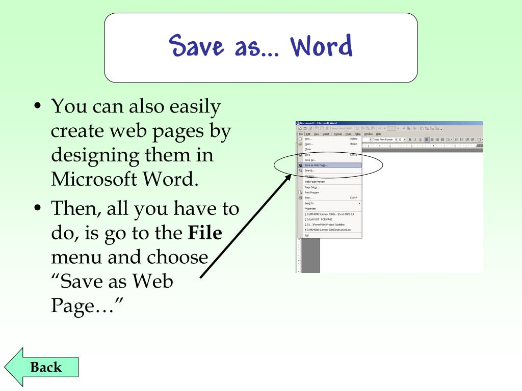 Save as… Word