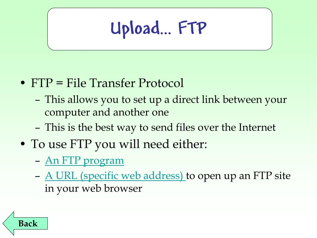 Upload… FTP
