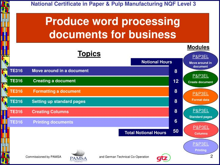 Produce word processing documents for business2
