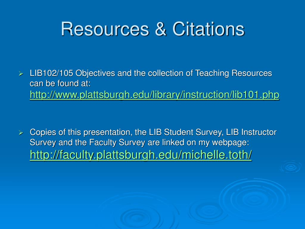 Resources & Citations