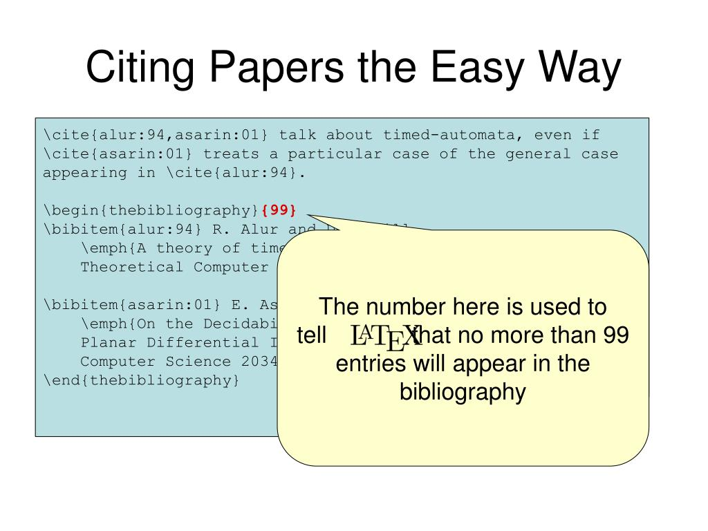 Citing Papers the Easy Way