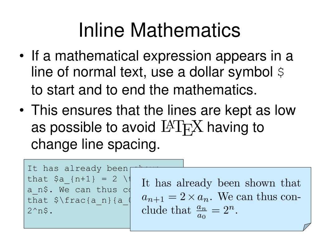 Inline Mathematics