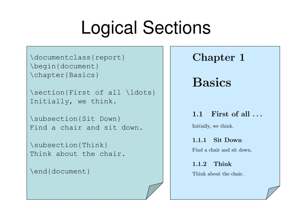 Logical Sections
