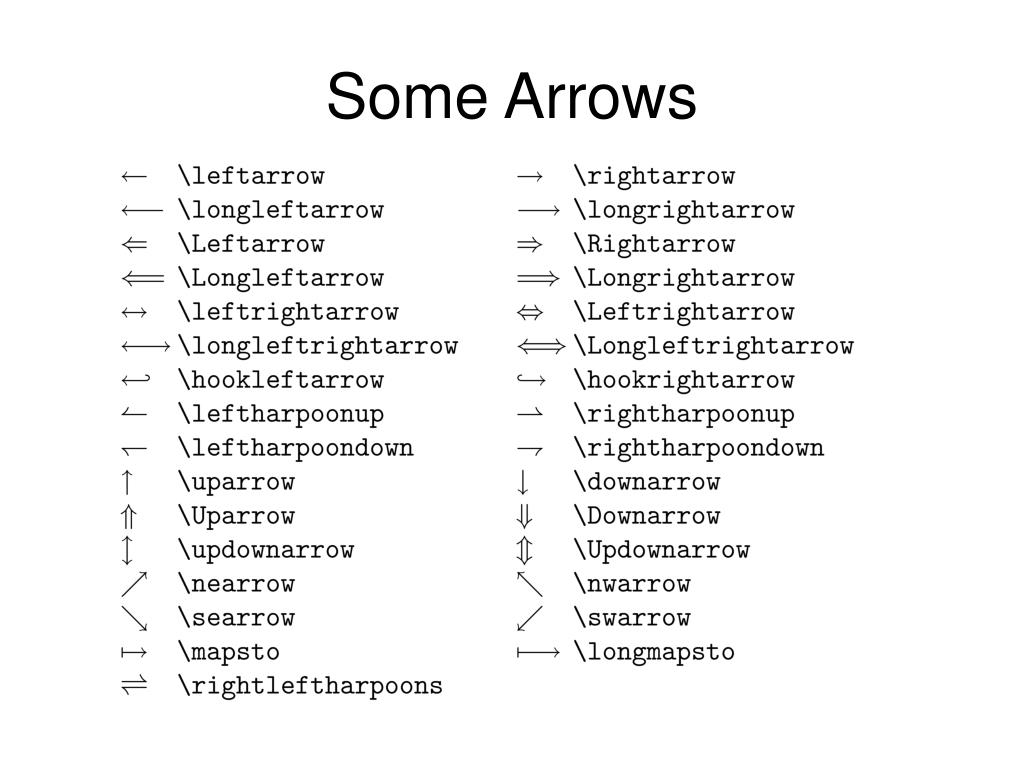 Some Arrows