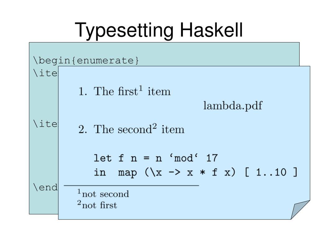 Typesetting Haskell