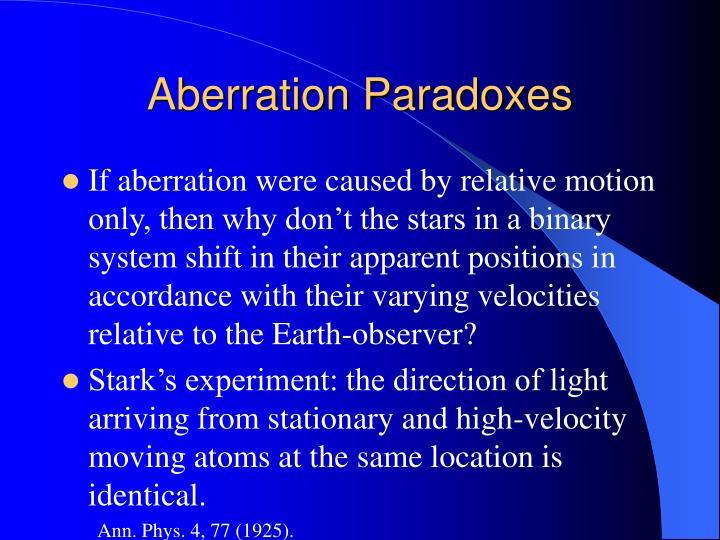 Aberration Paradoxes