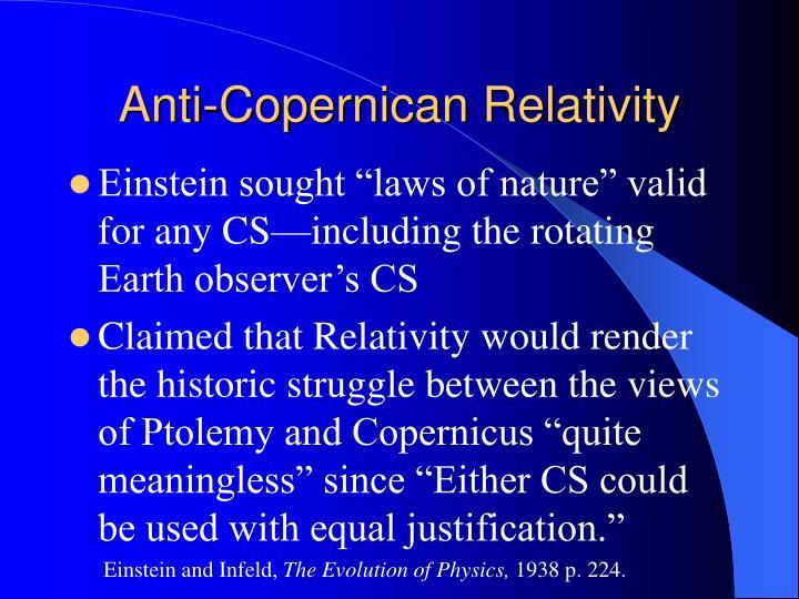 Anti-Copernican Relativity