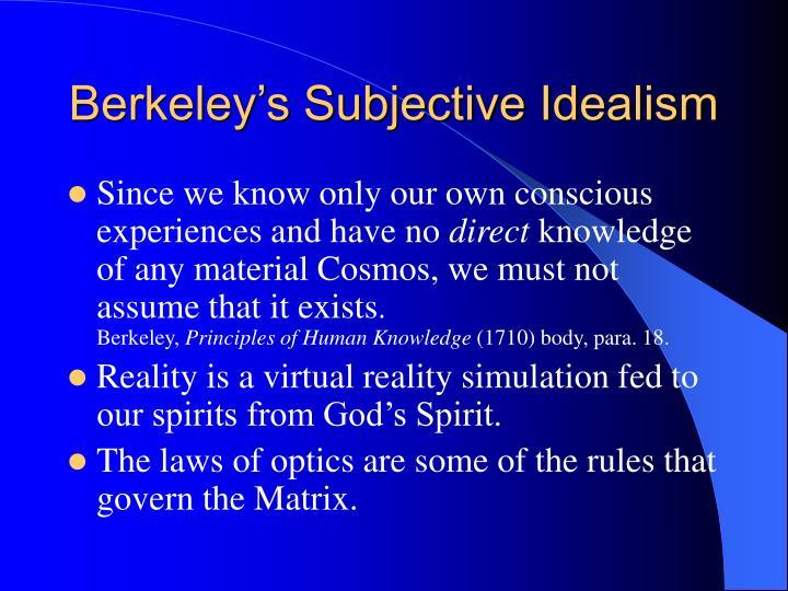 Berkeley's Subjective Idealism