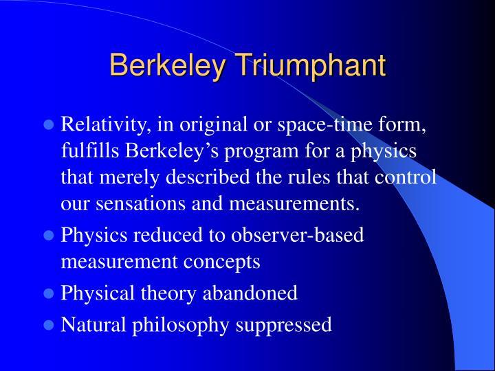 Berkeley Triumphant