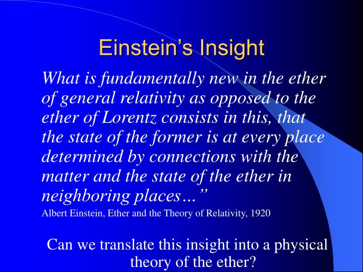 Einstein's Insight