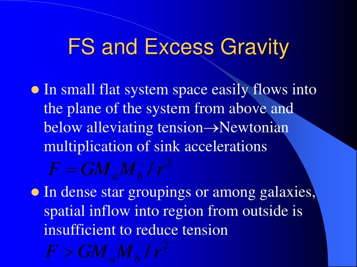 FS and Excess Gravity