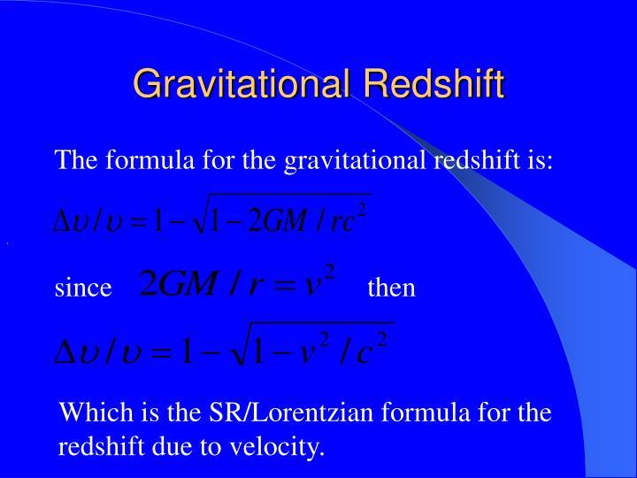Gravitational Redshift