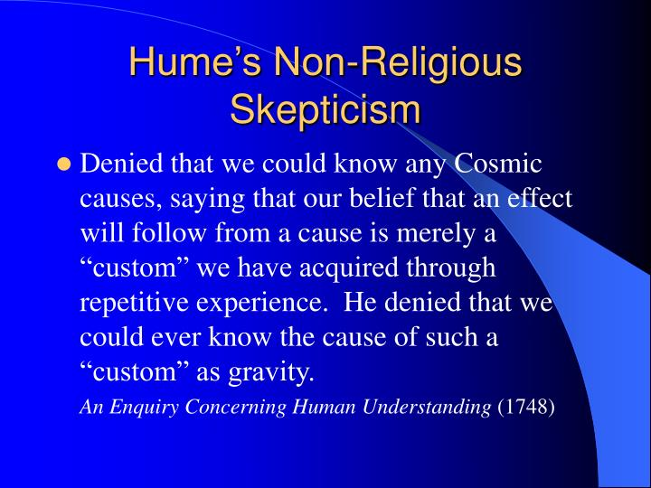 Hume's Non-Religious Skepticism