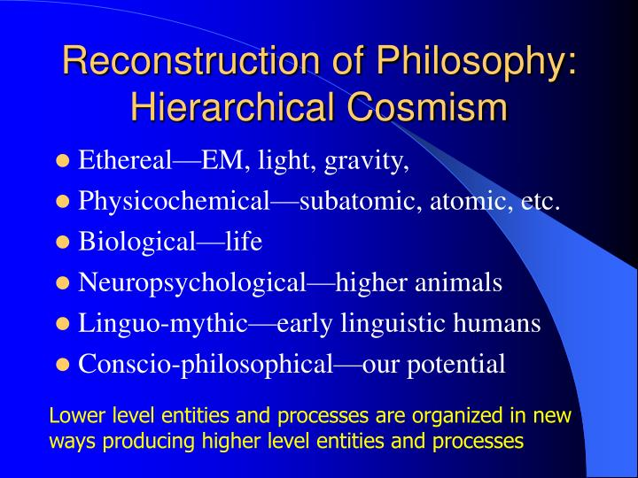Reconstruction of Philosophy: