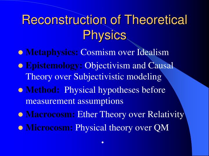 Reconstruction of Theoretical Physics