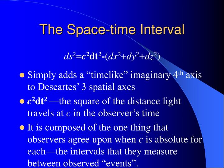 The Space-time Interval