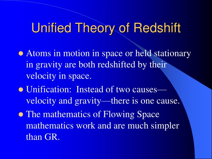 Unified Theory of Redshift