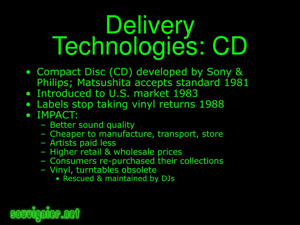 Delivery Technologies: CD