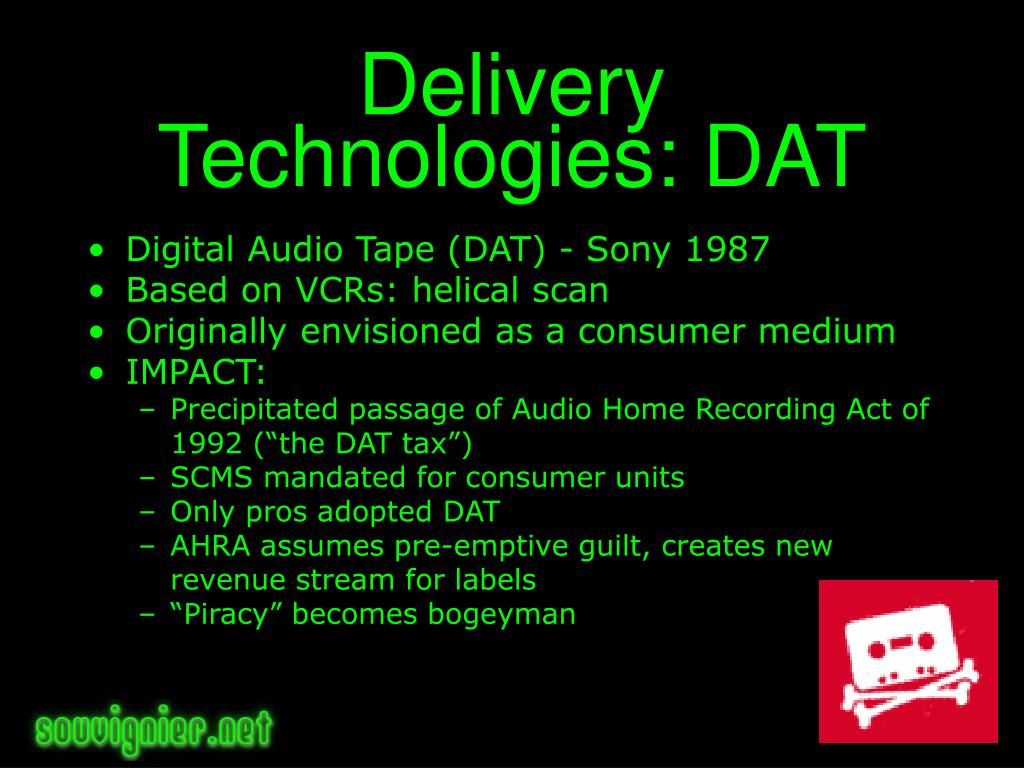 Delivery Technologies: DAT