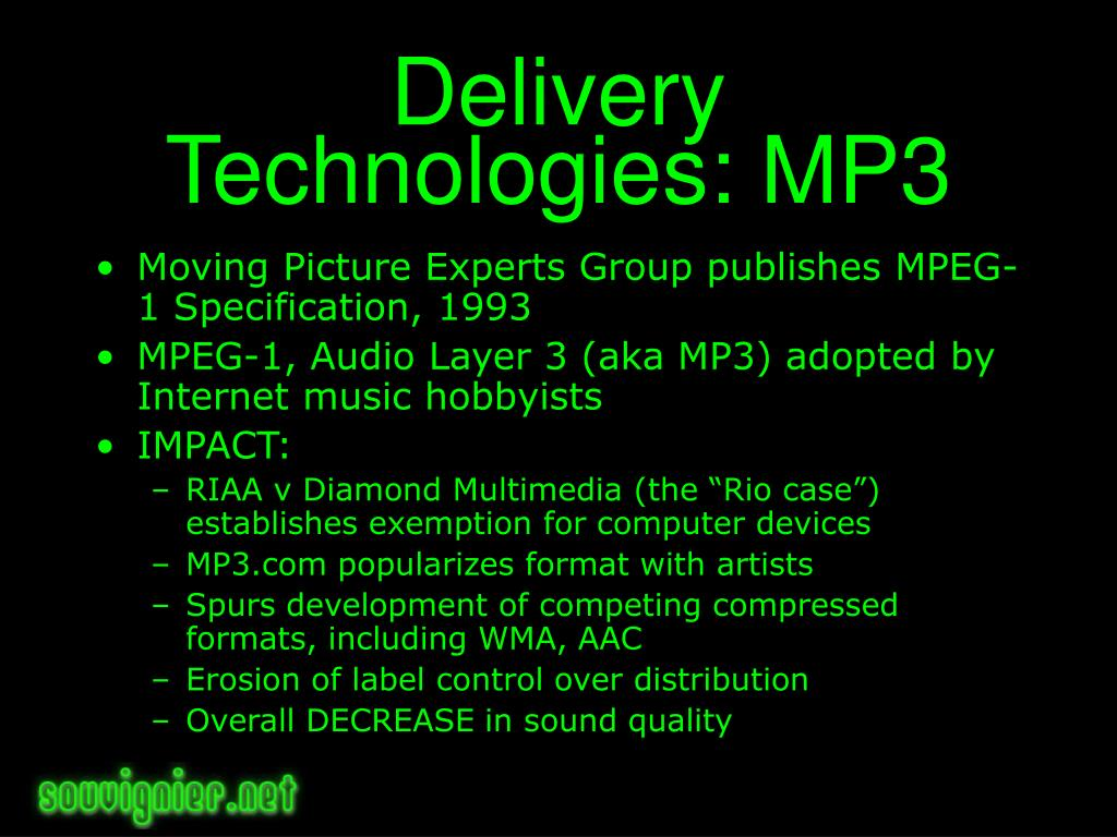 Delivery Technologies: MP3