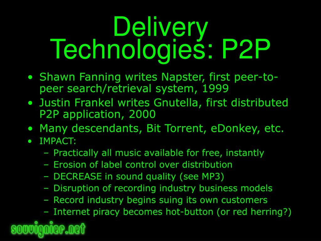 Delivery Technologies: P2P