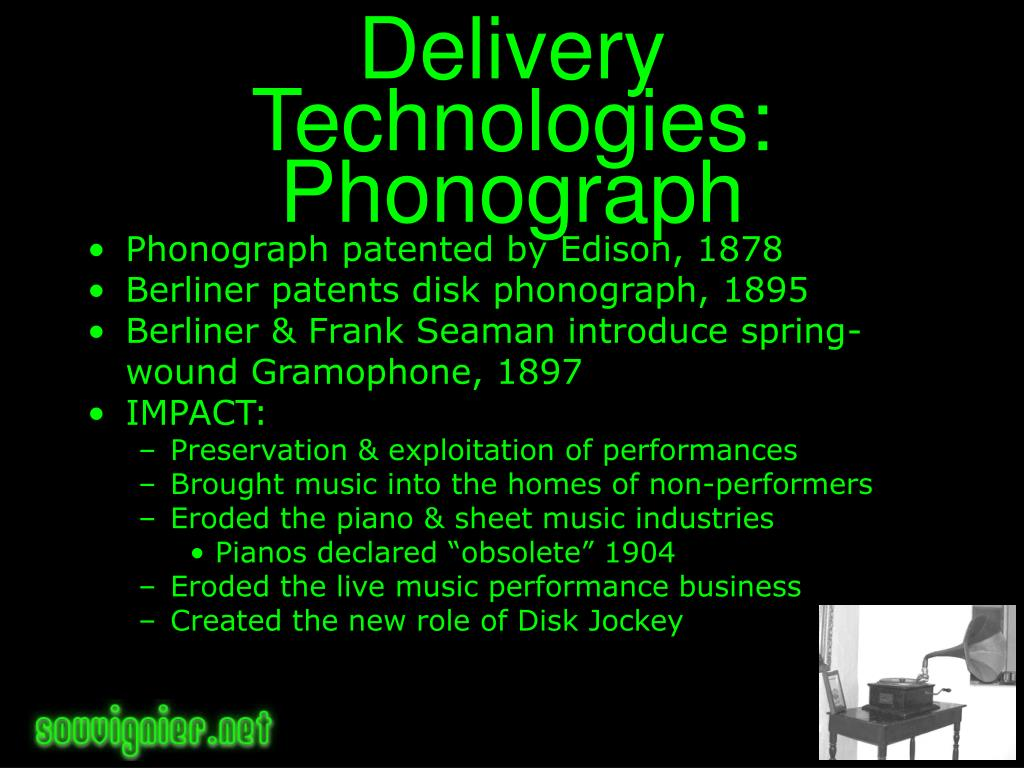 Delivery Technologies: Phonograph