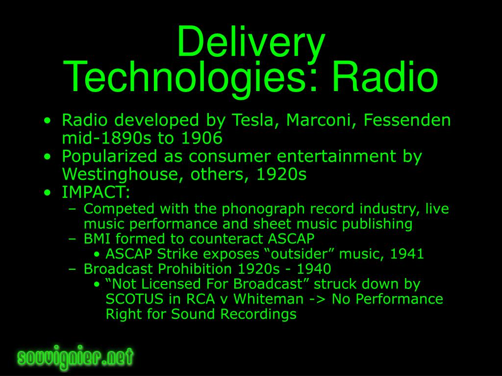 Delivery Technologies: Radio