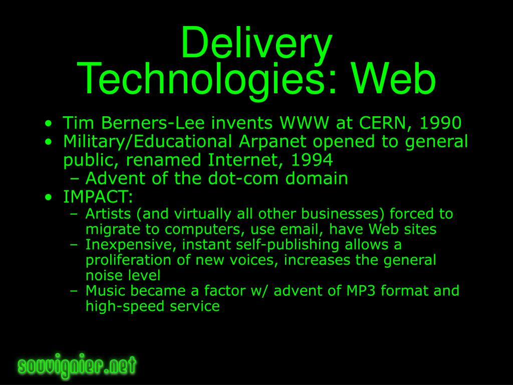 Delivery Technologies: Web