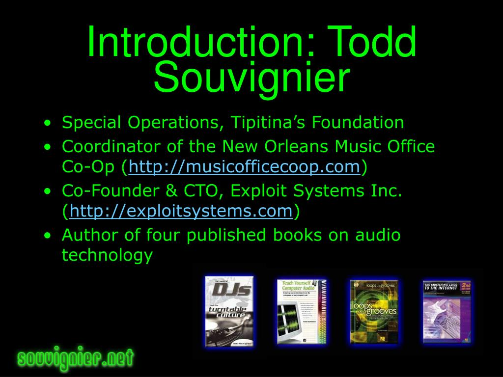 Introduction: Todd Souvignier