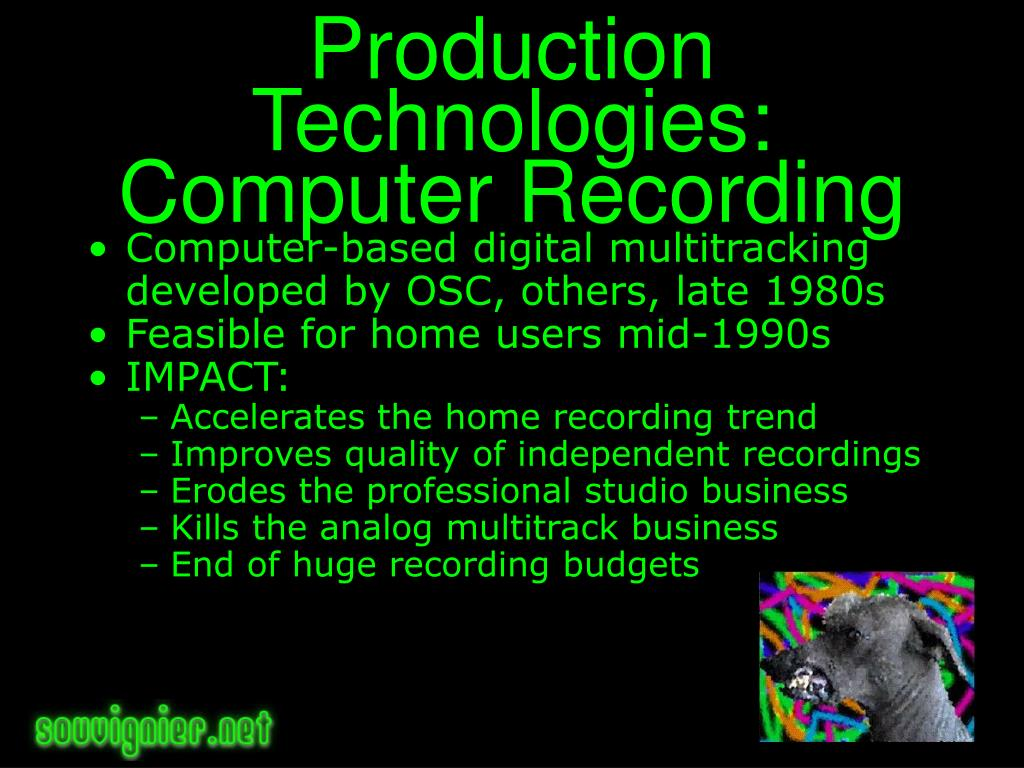 Production Technologies: Computer Recording