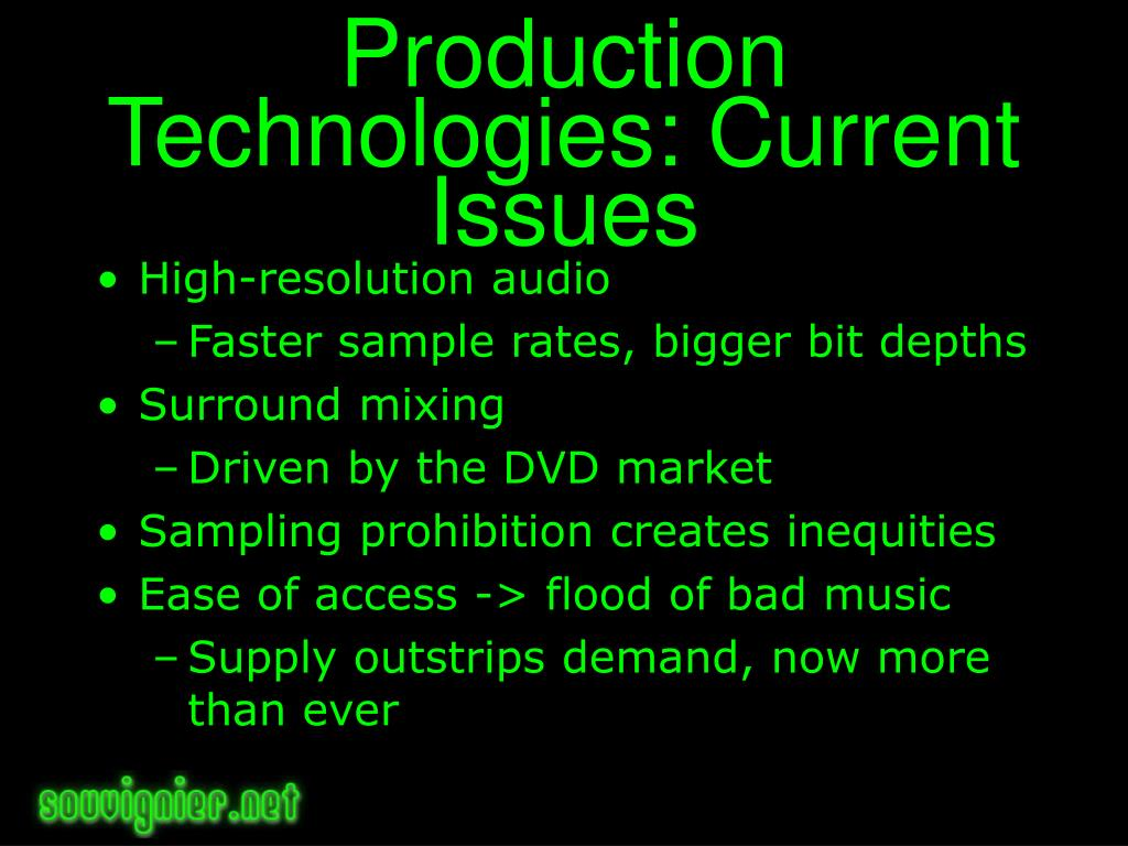 Production Technologies: Current Issues