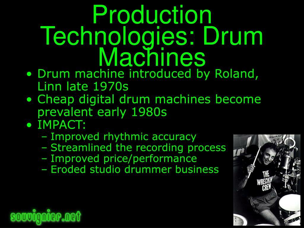 Production Technologies: Drum Machines