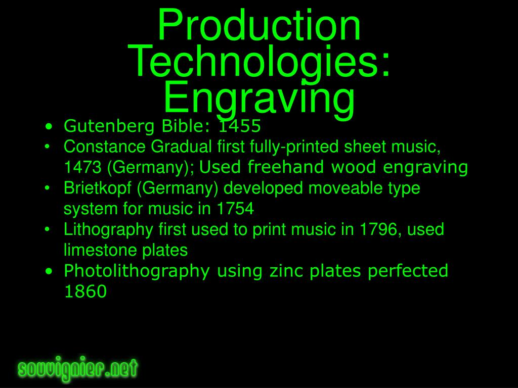 Production Technologies: Engraving