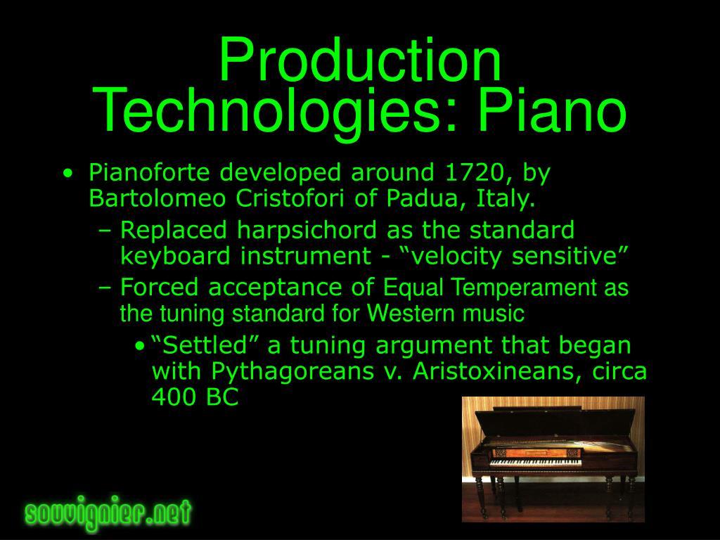 Production Technologies: Piano