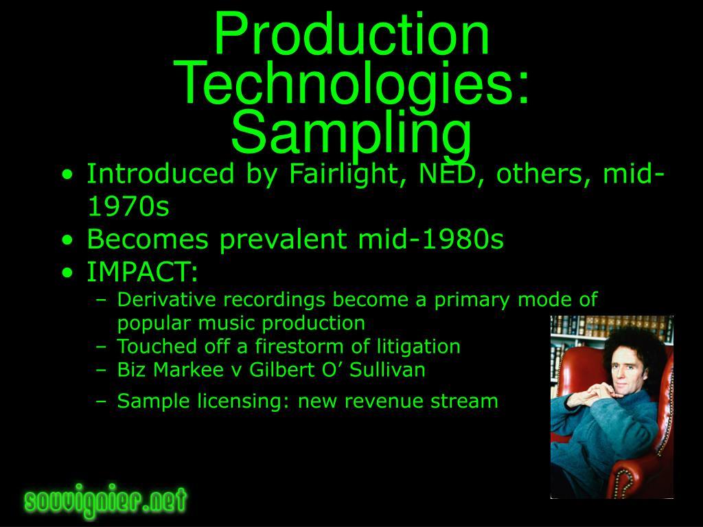 Production Technologies: Sampling