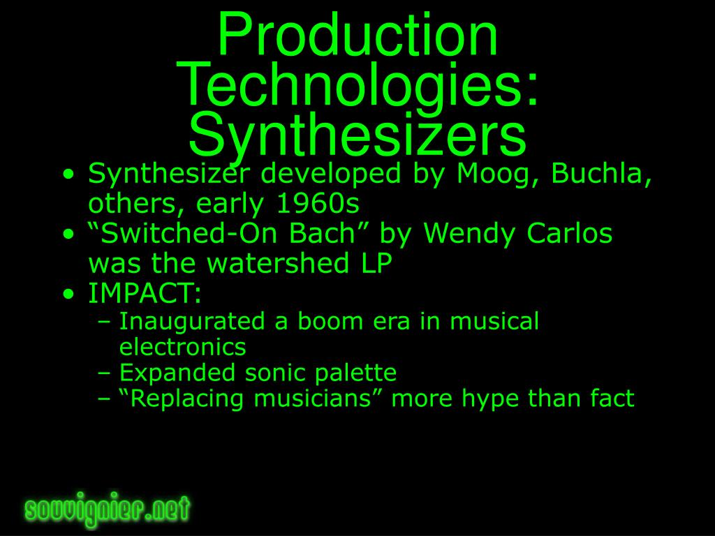 Production Technologies: Synthesizers