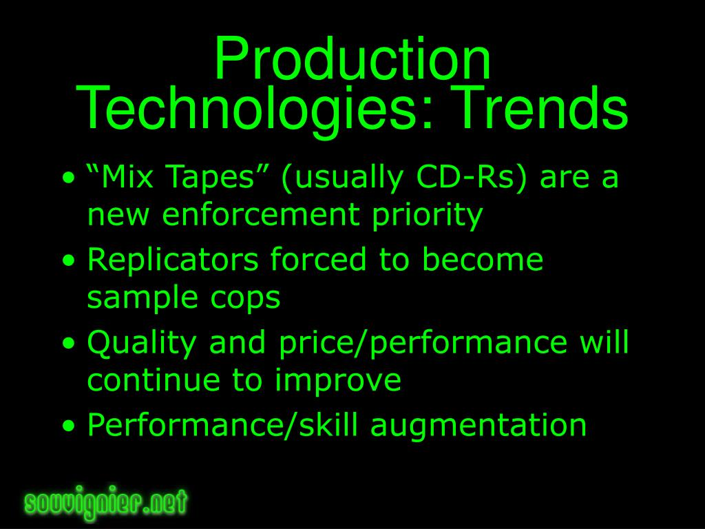 Production Technologies: Trends
