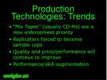 production technologies trends