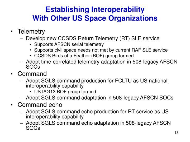 Establishing Interoperability