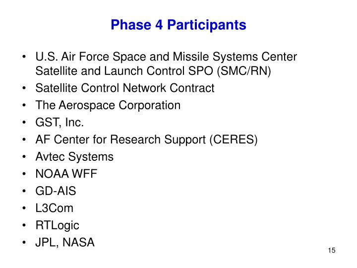 Phase 4 Participants