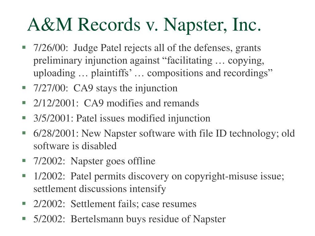 A&M Records v. Napster, Inc.