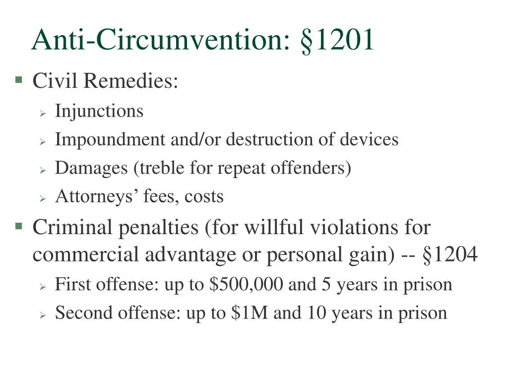 Anti-Circumvention: