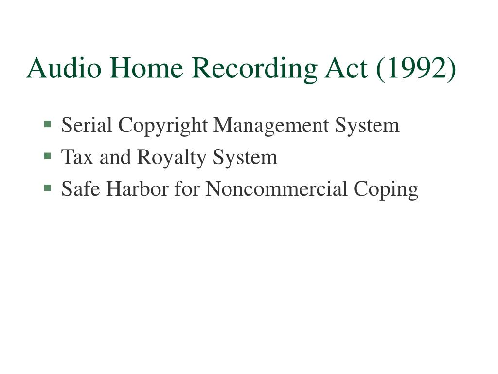 Audio Home Recording Act (1992)