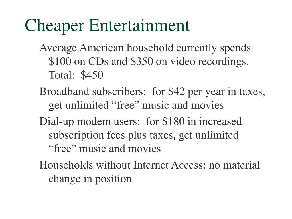 Cheaper Entertainment